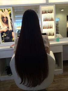 カット前の髪の長さ